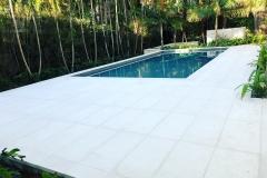 White Pool Deck